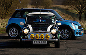 %0 years of the Mini - original and new versions as owned by Vaila Alexander and Andrew Donnachie - picture by Donald MacLeod 26.03.09