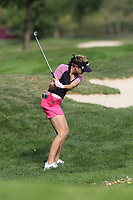 Paula Creamer (USA) plays her 2nd shot on the 13th hole during Thursday's Round 1 of The Evian Championship 2018, held at the Evian Resort Golf Club, Evian-les-Bains, France. 13th September 2018.<br /> Picture: Eoin Clarke | Golffile<br /> <br /> <br /> All photos usage must carry mandatory copyright credit (&copy; Golffile | Eoin Clarke)