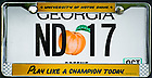 July 24, 2017; Georgia license plate ND 17 (Photo by Matt Cashore/University of Notre Dame)