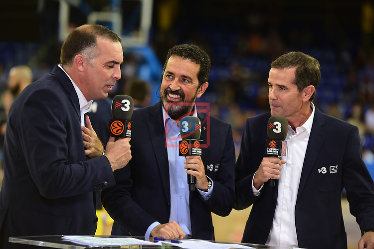 Turkish Airlines Euroleague 2016/2017.<br /> Regular Season - Round 2.<br /> FC Barcelona Lassa vs Fenerbahce Istanbul: 72-73.<br /> Victor Lavagnini, Jordi Robirosa &amp; Nacho Solozabal.
