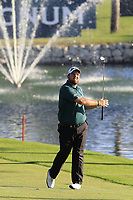 Shane Lowry (IRL) plays his 2nd shot on the 18th hole during Thursday's Round 1 of the 2018 Turkish Airlines Open hosted by Regnum Carya Golf &amp; Spa Resort, Antalya, Turkey. 1st November 2018.<br /> Picture: Eoin Clarke | Golffile<br /> <br /> <br /> All photos usage must carry mandatory copyright credit (&copy; Golffile | Eoin Clarke)