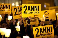 """25.01.2018 - Rome: """"2 Anni Senza Giulio"""" - Candlelit Vigil In Memory Of Giulio Regeni"""