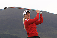 Renate Hjelle Grimstad (NOR) on the 2nd tee during Round 2 of the Women's Amateur Championship at Royal County Down Golf Club in Newcastle Co. Down on Wednesday 12th June 2019.<br /> Picture:  Thos Caffrey / www.golffile.ie