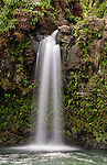 Upper waterfall at Pua'a Ka'a State Wayside Park, near the Hana Highway in Maui, Hawaii