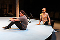"""""""The Arrival"""", written and directed by Bijan Sheibani, opems at the Bush Theatre. Set and costume design is by Samal Black, lighting design by Oliver Fenwick, movement direction by Aline David. The Picture shows: Irfan Shamji (Samad), Scott Karim (Tom)"""