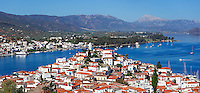 Poros island in Saronic gulf, Greece