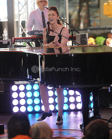 New York,NY- June 6,2014 : Sara Bareilles performs  on The Today Show Summer Concert Series in New York City on June 6,2014. Credit: John Palmer/MediaPunch