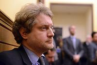 Roma, 27 Gennaio 2015.<br /> Tancredi Turco.<br /> Conferenza stampa alla Camera dei Deputati dei 9 Parlamentari usciti dal Movimento 5 Stelle.