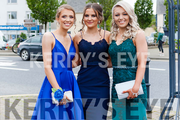 Students from Coláiste Ide agus Iosef Abbeyfeale gathered in the Square last Sunday afternoon prior to boarding the busses that transported them to their Debs Ball at the Raddison Blu Hotel Limerick from left: Sisters Rachael & Lilly Doody & Larissa McCarthy.