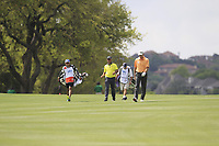 Hideki Matsuyama (JPN), Jim Furyk (USA) on the 6th during the 1st round at the WGC Dell Technologies Matchplay championship, Austin Country Club, Austin, Texas, USA. 22/03/2017.<br /> Picture: Golffile | Fran Caffrey<br /> <br /> <br /> All photo usage must carry mandatory copyright credit (&copy; Golffile | Fran Caffrey)