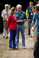 The Royal couple. Photo: Mikko Roininen / Scouterna