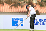 Miguel Angel Jimenez (ESP), tournament host, tees off on the 1st tee during Day 2 Friday of the Open de Andalucia de Golf at Parador Golf Club Malaga 25th March 2011. (Photo Eoin Clarke/Golffile 2011)