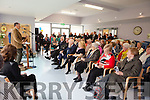 Tom Pierse, who was instrumental in getting the new Ard Curam Day Care Centre built in Listowel, speaking at the official opening on Friday afternoon.