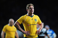 Dane Haylett-Petty of Australia looks on during a break in play. The Rugby Championship match between Argentina and Australia on October 8, 2016 at Twickenham Stadium in London, England. Photo by: Patrick Khachfe / Onside Images