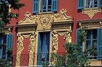 Europe/France/Provence-Alpes-Côte d'Azur/06/Alpes-Maritimes/Nice: Fascade d'une maison sur le port