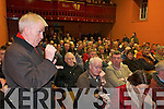 Jimmy Deenihan CONCERNS: Some of the attendance at the Castleisland By-pass public meeting in Castleisland on Wednesday night..