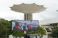 RIO DE JANEIRO, RJ, 23.10.2019 - FLAMENGO-GRÊMIO - Instalação do telão para Flamengo x Grêmio em jogo válido pela semifinal da Libertadores 2019 no estádio do Maracanã no Rio de Janeiro, nesta quarta-feira, 23. (Foto: Clever Felix/Brazil Photo Press/Folhapress)