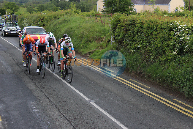 The breakaway group near Ballyjamesduff during Stage 1 of the 2017 An Post Ras running 146.1km from Dublin Castle to Longford, Ireland. 21st May 2017.<br /> Picture: Andy Brady | Cyclefile<br /> <br /> <br /> All photos usage must carry mandatory copyright credit (&copy; Cyclefile | Andy Brady)