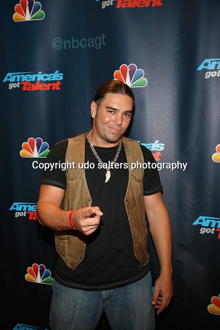 "AGT Contestant David ""The Cobra Kid' Weathers At America's Got Talent Post Show Red Carpet at Radio City Music Hall, NY"