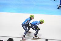 SHORTTRACK: DORDRECHT: Sportboulevard Dordrecht, 24-01-2015, ISU EK Shorttrack, Relay, Vladimir GRIGOREV (RUS | #62), Victor AN (RUS | #60), ©foto Martin de Jong