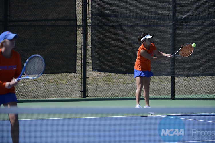 26 APR 2013: The 2013 Mountain West Conference Women's Tennis Championship held at the Air Force Academy in Colorado Springs, CO. Justin Tafoya/NCAA Photos
