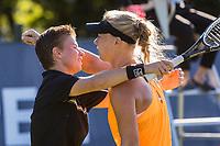 Den Bosch, Netherlands, 13 June, 2017, Tennis, Ricoh Open,  Women's Doubles: Kiki Bertens (NED) / Demi Schuurs (NED) (L) cogratulate eachother after defeating Rus/Hogenkamp<br /> Photo: Henk Koster/tennisimages.com