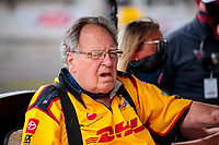 Jul 11, 2020; Clermont, Indiana, USA; NHRA team owner Connie Kalitta during qualifying for the E3 Spark Plugs Nationals at Lucas Oil Raceway. This is the first race back for NHRA since the start of the COVID-19 global pandemic. Mandatory Credit: Mark J. Rebilas-USA TODAY Sports
