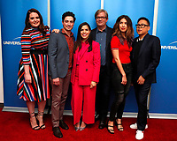 "LOS ANGELES - MAR 5:  Lauren Ash, Ben Feldman, America Ferrera, Mark McKinney, Nichole Bloom, Nico Santos at the ""Superstore"" For Your Consideration Event on the Universal Studios Lot on March 5, 2019 in Los Angeles, CA"
