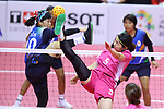 Yuumi Kawamata (JPN), <br /> AUGUST 28, 2018 - Sepak Takraw : <br /> Women's Quadrant match <br /> at Jakabaring Sport Center Ranau Hall <br /> during the 2018 Jakarta Palembang Asian Games <br /> in Palembang, Indonesia. <br /> (Photo by Yohei Osada/AFLO SPORT)