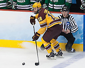 Nate Condon (MN - 16), Bob Bernard - The University of Minnesota Golden Gophers defeated the University of North Dakota 2-1 on Thursday, April 10, 2014, at the Wells Fargo Center in Philadelphia to advance to the Frozen Four final.