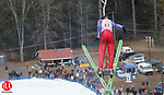 SALISBURY, CT-11 FEBRUARY 2012 021112JW02 - Former Falls Village resident Julian Holland made a return to the ski jumping scene Saturday during the 2012 Salisbury Invitational Ski Jump after retiring from the sport in 2006..Jonathan Wilcox Republican American..