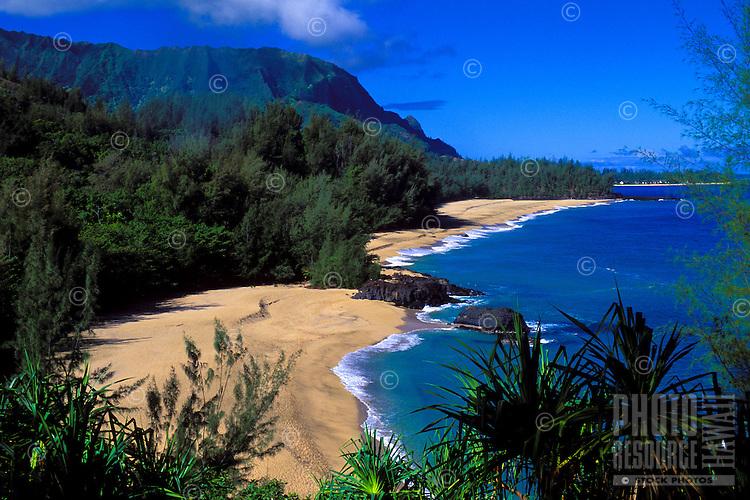 "Lumahai beach, where movie """"South Pacific"""" was filmed, Kauai"