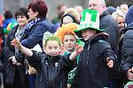 Jack Brady, John Byrne and Ronan Brady St Patricks Day parade in Slane..Picture: Fran Caffrey / www.newsfile.ie ..