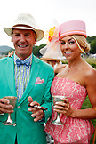 USA, Tennessee, Nashville, Iroquois Steeplechase, spectators linger on the track between races