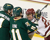 Nick Bruneteau (Vermont - 4), H.T. Lenz (Vermont - 11), Patrick Brown (BC - 23) - The Boston College Eagles defeated the visiting University of Vermont Catamounts 6-0 on Sunday, November 28, 2010, at Conte Forum in Chestnut Hill, Massachusetts.