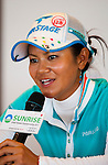 Ai Miyazato of Japan attends a press conference during day one of the Sunrise LPGA Taiwan Championship 2011 at the Sunrise Golf & Country Club on 20 October 2011 in Tao Yuan, Taiwan. Photo by Victor Fraile / The Power of Sport Images