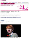 James Acaster, Fosters Comedy Award Nominee, Guardian, 20.08.14