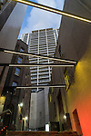 Looking up between the buildings in city cbd, Sydney, NSW, Australia