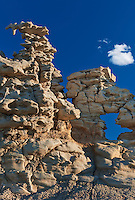 746000014 strange sandstone formations stand watch over the landscape in fantasy canyon a blm property in the middle of a working oil field in northeastern utah united states