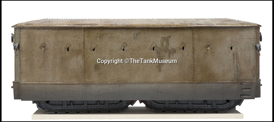 BNPS.co.uk (01202 558833)Pic: TheTankMuseum/BNPS<br /> <br /> Landship - a British design from 1915 which could carry 70 soldiers.<br /> <br /> Tanks from the Memories...<br /> <br /> A museum has recreated some of the evolutionary dead ends dreamt up before the modern Tank was finally invented during WW1.<br /> <br /> Accurate models of the weird and wonderful creations that date as far back as 3,000 years ago will form part of a new exhibition at The Tank Museum in Bovington, Dorset.<br /> <br /> Tanks as we know them rolled onto the battlefield in 1916 during World War One.<br /> <br /> But among the models recreated is one designed by ancient Assyrians from 9th century BC, which was an early siege vehicle – a battering ram with armour and a protruding weapon.