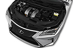 Car stock 2017 Lexus RX 350 L 5 Door SUV engine high angle detail view