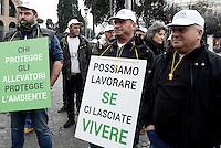 Roma, 23 Febbraio 2017<br /> Pastori e allevatori protestano a Roma contro il piano Lupo che,dicono i manifestanti, prevede la salvaguardia dei predatori e non dei territori e del lavoro