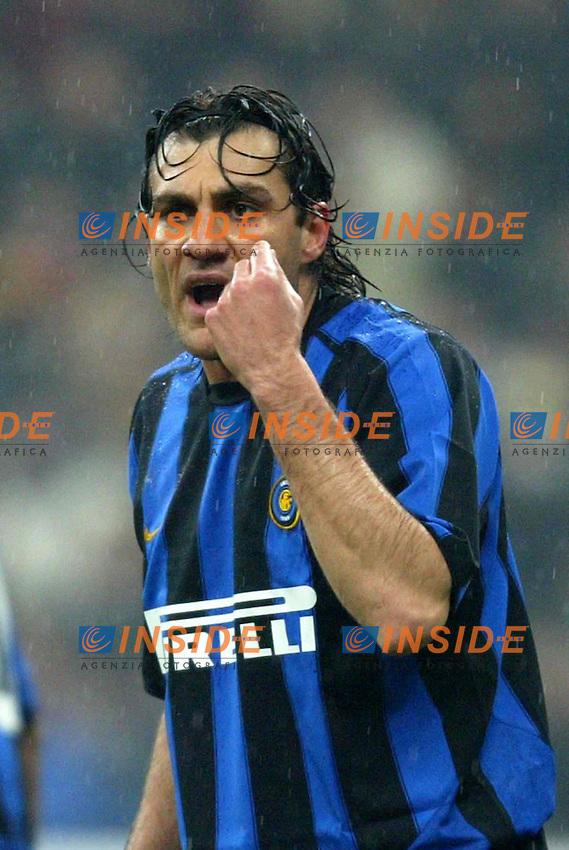 Milano 21/2/2004<br /> Milan Inter 3-2 <br /> Christian Vieri (Inter)<br /> Foto Carlo Baroncini Insidefoto