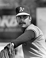 Oakland Athletics pitcher Rick Langford. (1983 photo/Ron Riesterer)