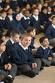 Morning assembly at Christ Church Bentinck  C of E Primary School, Marylebone. London