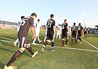 Players of D.C. United during a US Open Cup match against the Harrisburg City Islanders at the Maryland Soccerplex on July 21 2010, in Boyds, Maryland. United won 2-0.