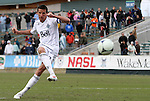 04 March 2012: Vancouver's Sebastien Le Toux (FRA) converts his penalty shootout attempt. The NASL Carolina RailHawks played the MLS Vancouver Whitecaps FC to a 2-2 tie at WakeMed Soccer Stadium in Cary, NC in a preseason game for both teams. After the game, the RailHawks defeated the Whitecaps 4-2 in a penalty kick shootout to win the RailHawks Community Shield.