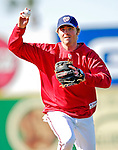 18 March 2007: Washington Nationals infielder Josh Wilson practices run-down drills prior to facing the Florida Marlins at Space Coast Stadium in Viera, Florida...Mandatory Photo Credit: Ed Wolfstein Photo