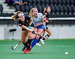AMSTELVEEN -  Tess Zweers (Kampong)  finale Kampong MB1-Amsterdam MB1. AMSTERDAM MB1 wint de titel Meisjes B. finales A en B jeugd  Nederlands Kampioenschap.  COPYRIGHT KOEN SUYK