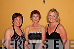 Social: Glamourous ladies Breda O'Mahony, Eileen O'Connor, Killarney & Lorna Hannon, Castleisland, pictured at Listowel Badminton Clubs social at The Listowel Arms on Saturday night